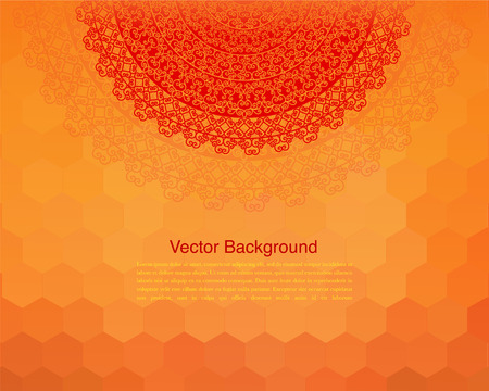 Ethnic & Colorful Henna Mandala design Vector