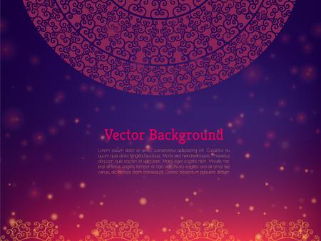 민족 & 다채로운 헤나 만다라 디자인 일러스트