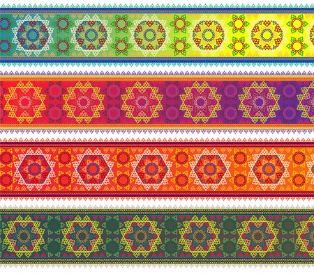 bollywood: Henna Banner Border, Henna inspired Colorful Border - very elaborate and easily editable
