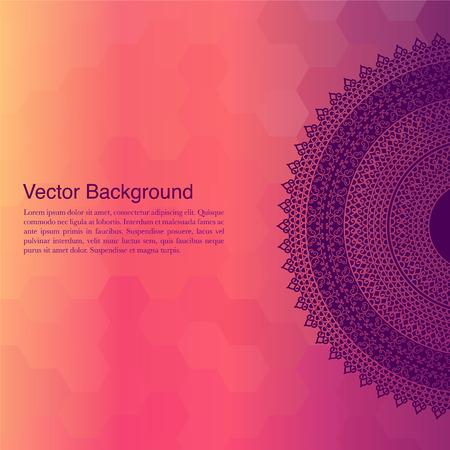 Ethnic & Colorful Henna Mandala design, very elaborate and easily editable