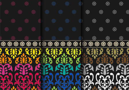 Indian textile Pattern  Detailed and easily editable Vector