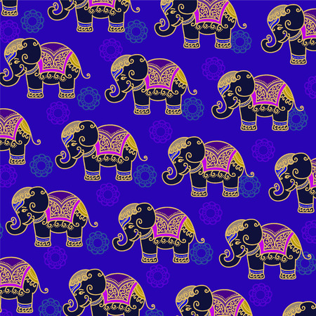 bollywood: Decorative Indian Elephant pattern