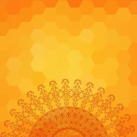 bollywood: Ethnic  Colorful Henna Mandala design very elaborate and easily editable