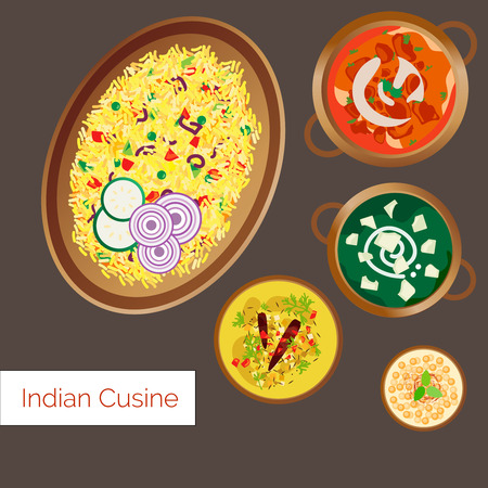 biryani: Indian Cuisine Vector