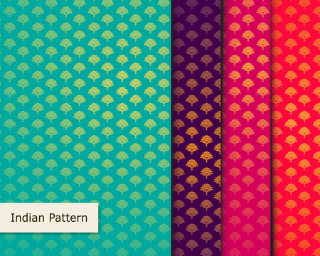 brocade: Indian Pattern - Detailed and easily editable Illustration