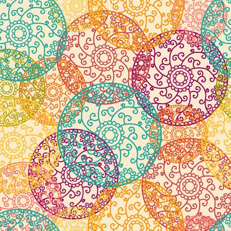 indische muster: Indian Pattern - detailliert und leicht editierbaren
