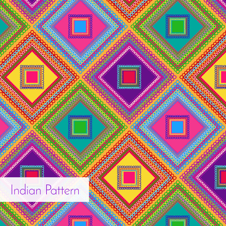 bollywood: Indian Pattern - Detailed and easily editable Illustration
