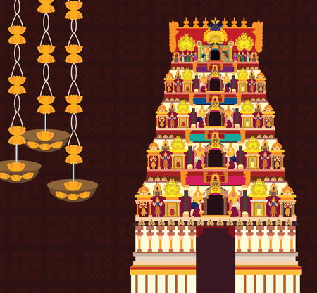 Hindu temple Stock Illustratie