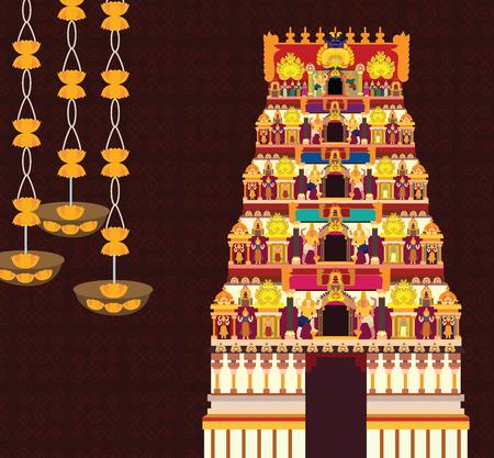 Hindu temple 矢量图像