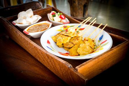 manjar: Delicadeza asi�tica pollo satay