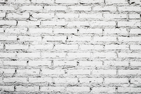 vignetted: white brick wall texture grunge background with vignetted corners Stock Photo