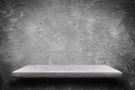 Empty concrete shelves on grunge concrete background with space for text or image Reklamní fotografie - 50114804
