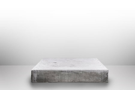 Empty concrete table on gradient background, Template mock up for display of your product