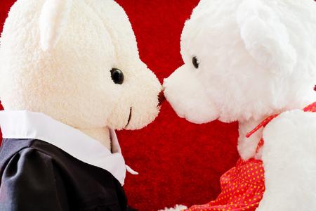 branded: Valentine Teddy bears non branded kiss Stock Photo