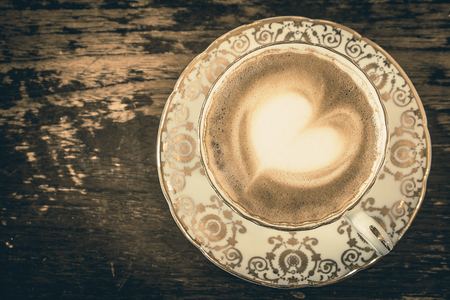 capucinno: Latte Cup with Heart Design