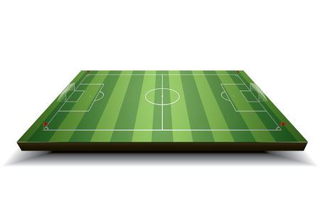 soccer field: Soccer field, vector football field