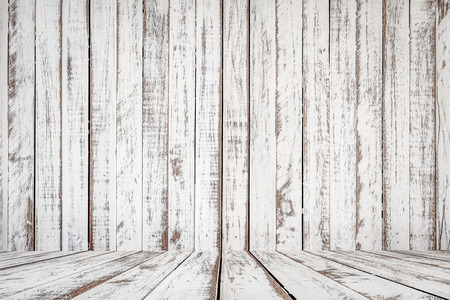 white: White painted old wooden background Stock Photo