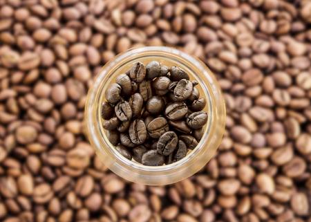 Zblízka pečené kávy.