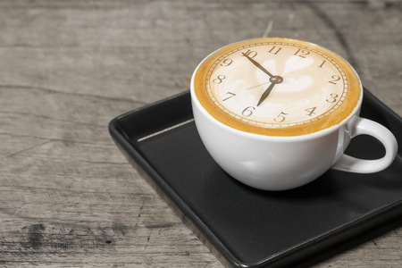 Šálek kávy s krásným Latte umění