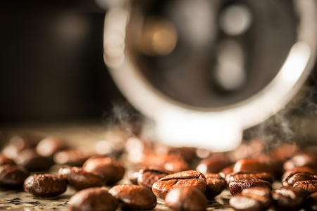 Zblízka pečené kávy