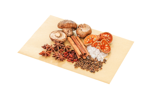 Chinese spices, herb and ingredients for cooking soup or medincine