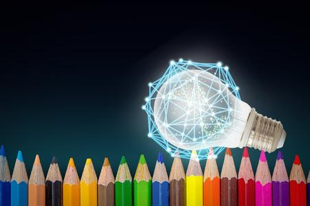 barevné pozadí tužky Reklamní fotografie
