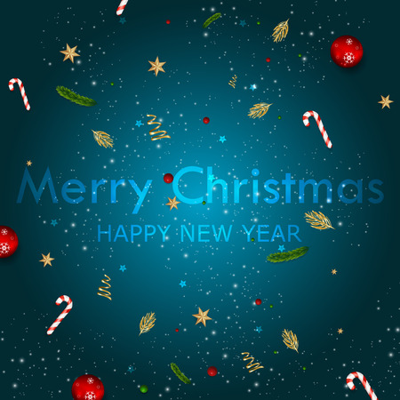 Merry Christmas and Happy New Year Greeting Card Background. Reklamní fotografie - 108253180