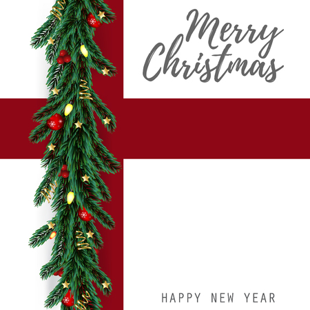 Merry Christmas and Happy New Year Greeting Card Background. Reklamní fotografie - 108253189