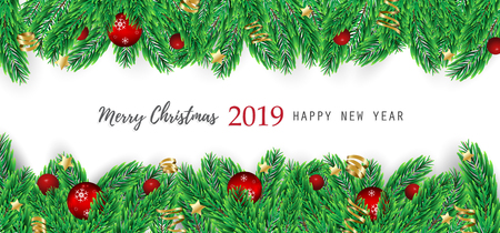 Merry Christmas and Happy New Year Greeting Card Background. Reklamní fotografie - 108253193