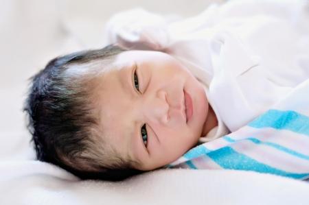 Newborn Baby Girl in Hospital Stock Photo - 15812532