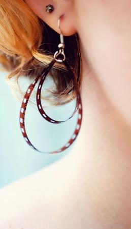 Film earring Stock Photo