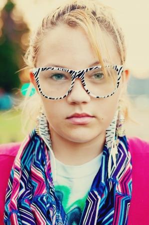 bold stylish teen