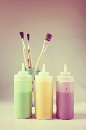 homemade paint and paint brushes