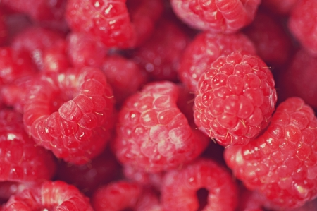 Close up of raspberries Banco de Imagens