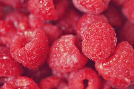 Close up of raspberries Stock Photo