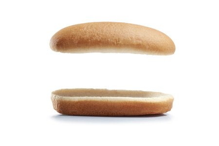 Bread Hot dog isolated white background. Banque d'images