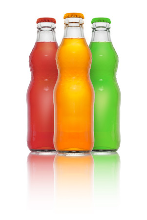 aerated: aerated soft drink isolated on white background. Stock Photo