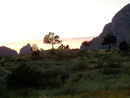 basin mountain: mountain basin at sunset