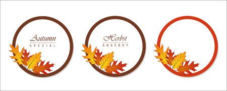 Autumn sale flyer template vector illustration EPS10