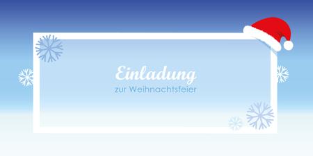 inviting christmas celebration snow nikolaus cap vector illustration EPS10 Illustration