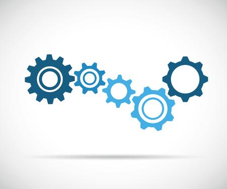 blue gears business symbol teamwork vector illustration EPS10 스톡 콘텐츠 - 112085348