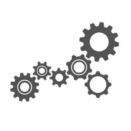 grey gears business symbol teamwork vector illustration EPS10