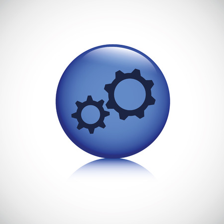 gears blue button business business symbol teamwork vector illustration EPS10 일러스트
