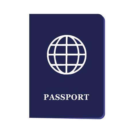 ブルーパスポート文書シンプルベクトルイラストEPS10