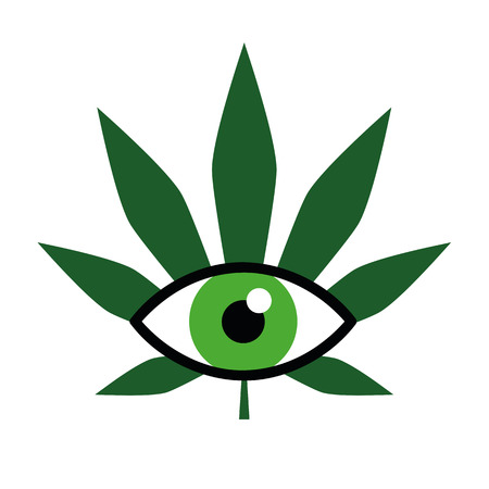 cannabis for medical use ophthalmology vector illustration EPS10