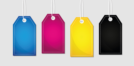 CMYK label primary colors print vector illustration EPS10