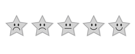 grey rating stars feedback vector illustration EPS10 Ilustrace