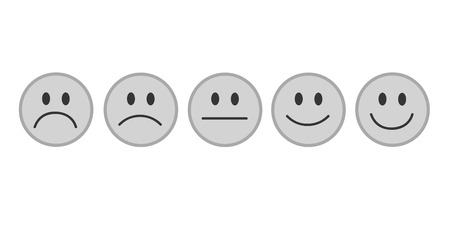 grey rating smileys faces vector illustration EPS10