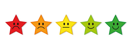 rating stars feedback red to green vector illustration EPS10
