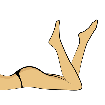 womans legs in sexy dessous vector illustration EPS10